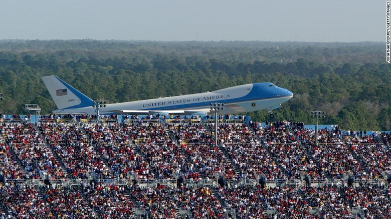Daytona 500 Air Force One Photo