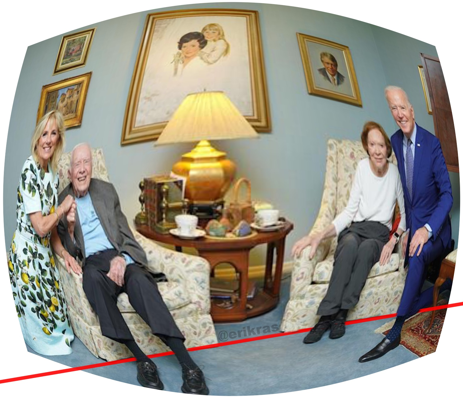 The Bidens with the Carters, Fixed