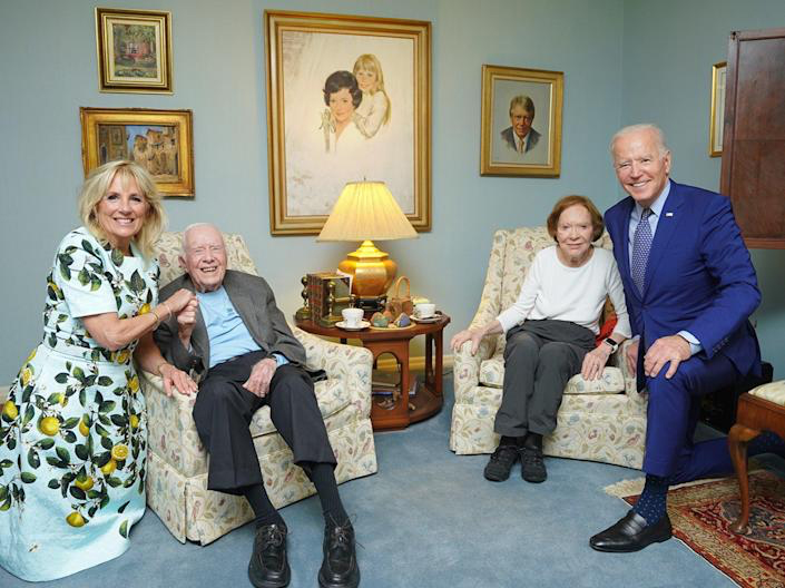 The Bidens with the Carters
